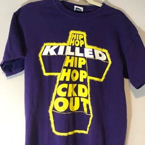 """""""Hip Hop Killed Hip Hop"""" Shirt by Caked Out Sz. M"""